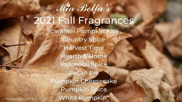 Fall Candles Scent List