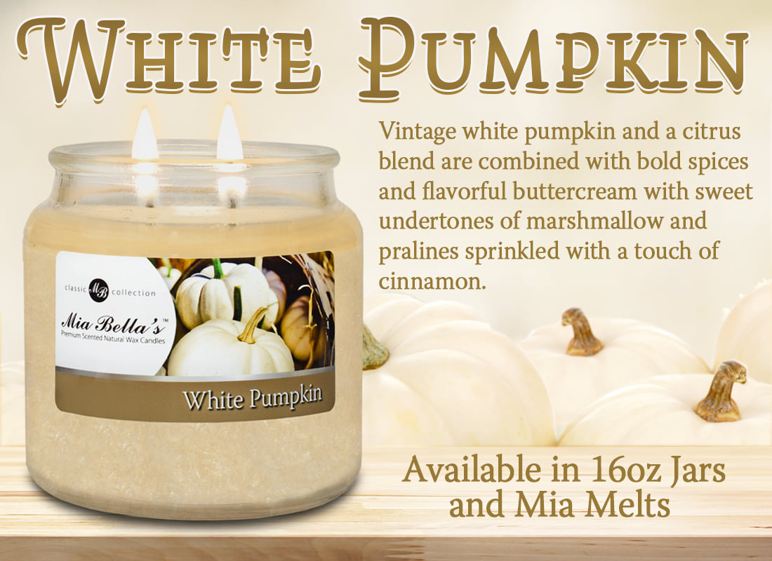 White Pumpkin Scented Candle