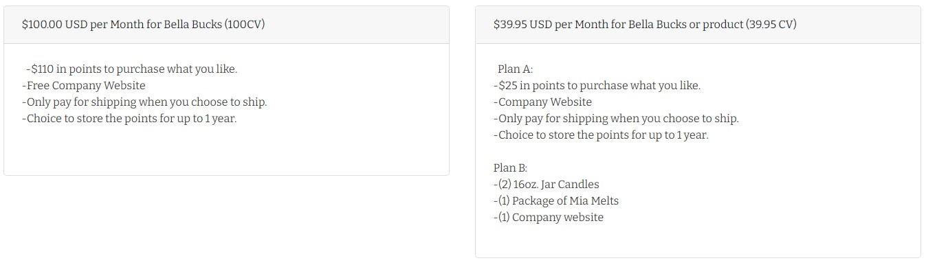 Monthly Bundle Options