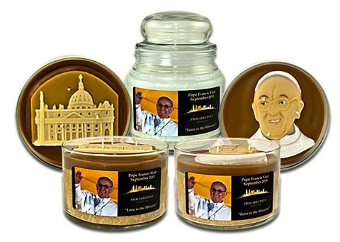 Pope Francis Catholic Candles