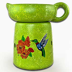 Hummingbird- Hand Painted Wax Melter