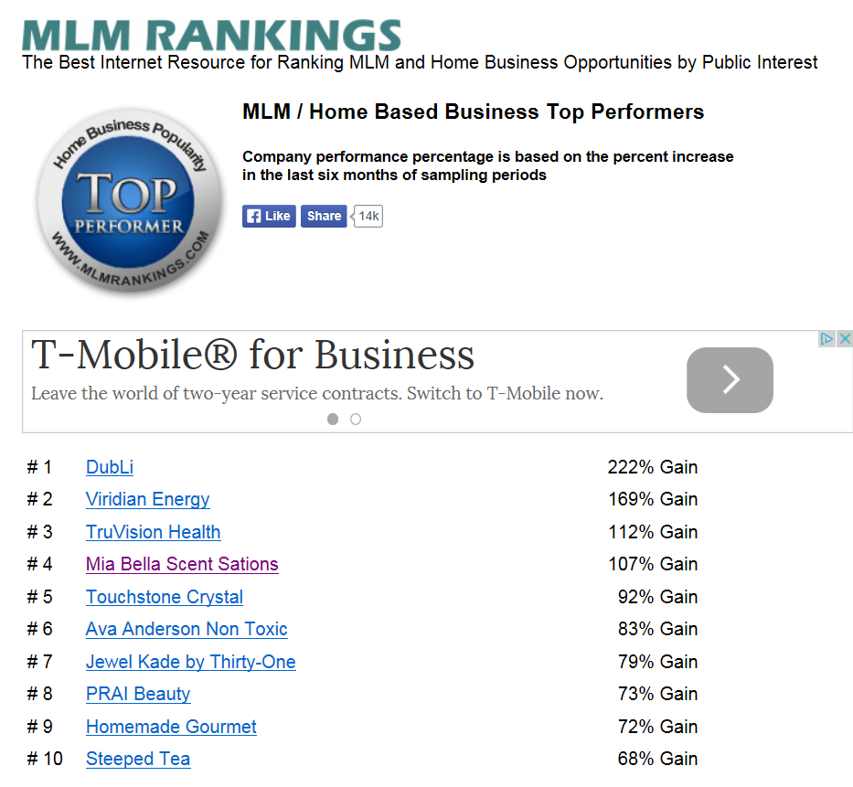 Home Based Business Top Performer