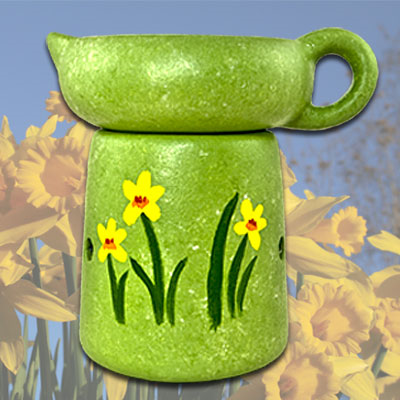Wax Melter - Hand Painted Spring Fever