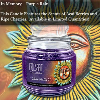 Purple Rain - Mia Bella Candles Honors Prince