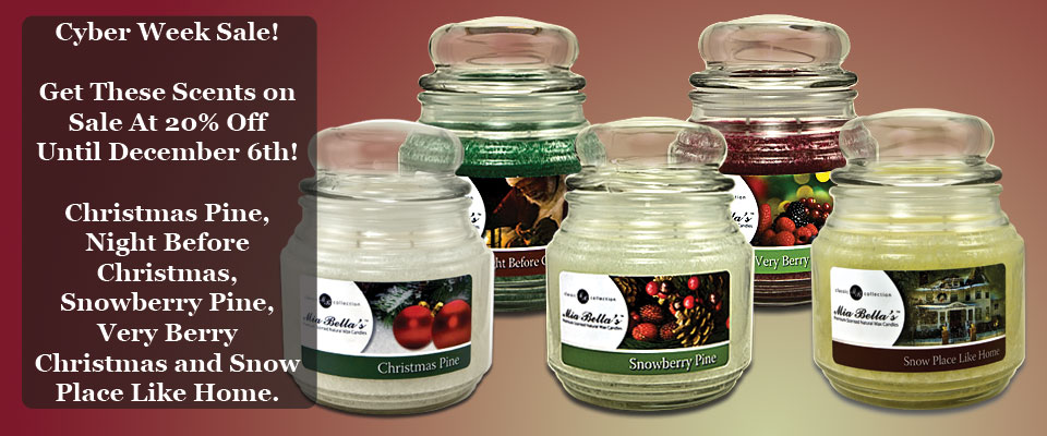 Mia Bella Christmas Scents - On Sale for 20% Off