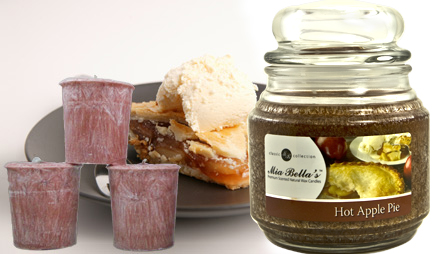 Mia Bella Candles Best Seller - Hot Apple Pie - Candle of the Month