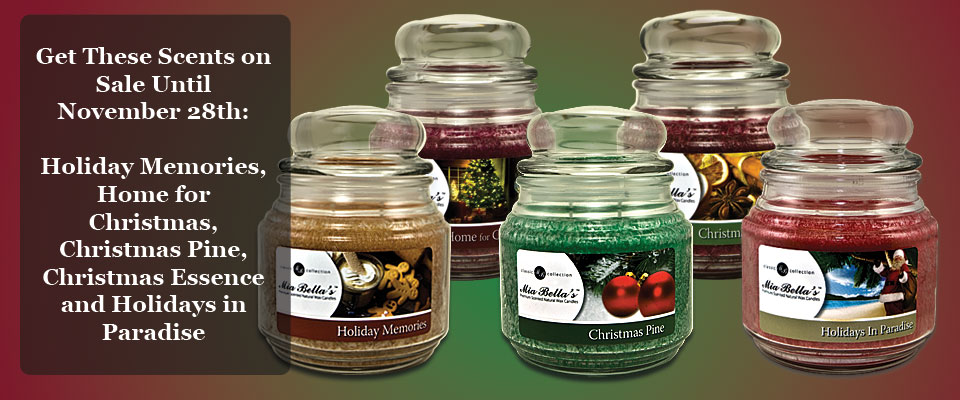 Candles - Holiday Scents on Sale