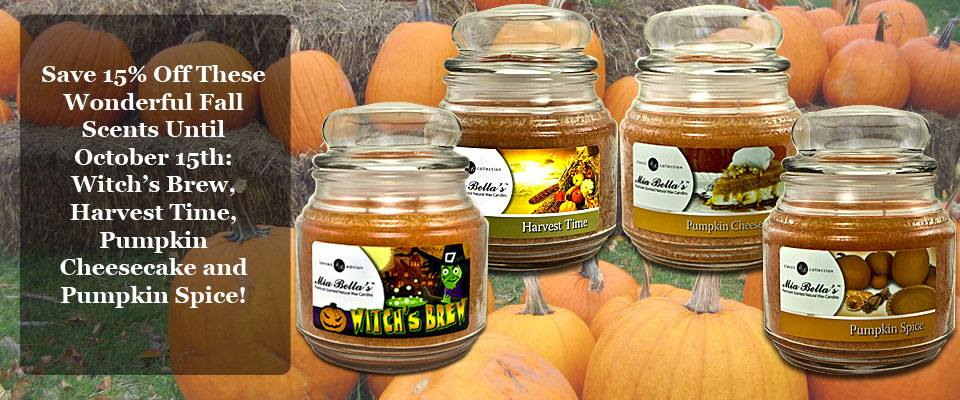Save 15% OFF Fall Candle Scents