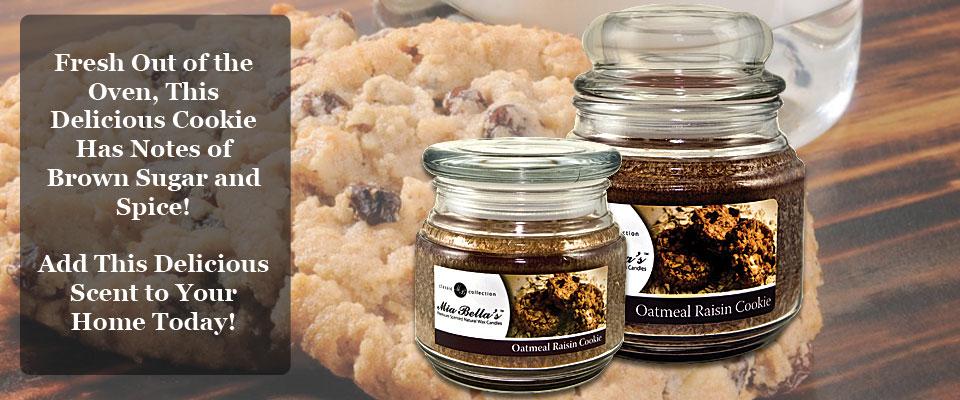 Mia Bella's Oatmeal Raisin Cookie Candle